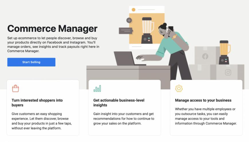 Facebook Shops y Commerce Manager